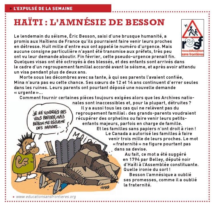 Le soutien officiel aux Ha�tiens de France n'�tait-il qu'illusion ...